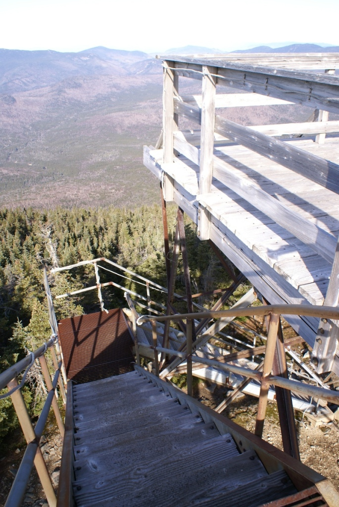 Carrigain Observation Tower - Down the Stairs