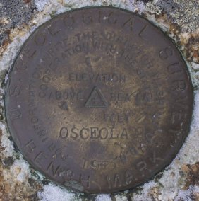 Osceola Summit Marker