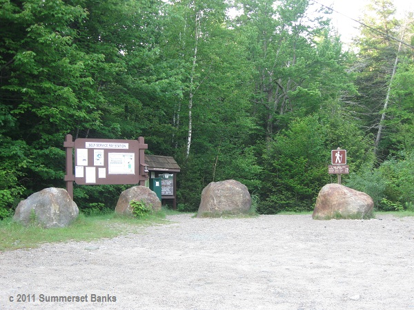 19 Mile Brook parking area and trail head.