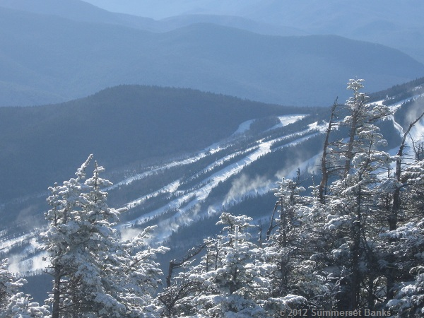 Looking over to Mt. Tecumseh, I could see that Waterville Valley Ski Area was making snow!