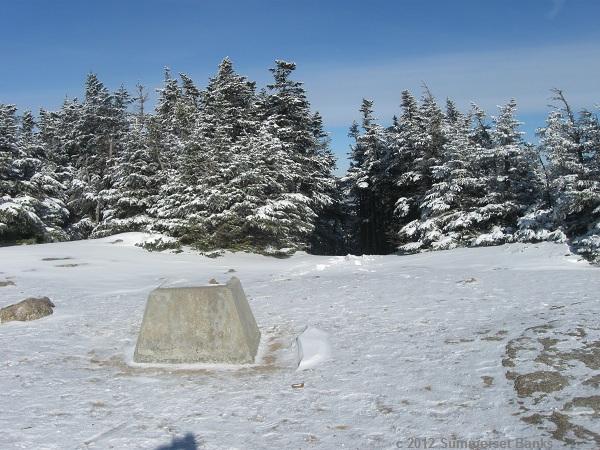 On the summit ledges of Mt. Osceola, looking toward the path to East Osceola.