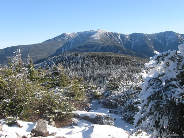 As you can see Santa, we have some really beautiful views in the winter here in the White Mountains.  This is Mt. Lafayette and neighbors in the Franconia Range.