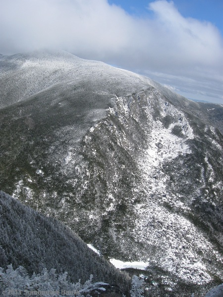 The massive bulk of Carter Dome rises up on the other side of Carter Notch.