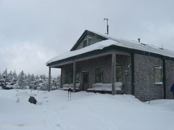 Galehead Hut, all buttoned up for winter, awaiting spring.