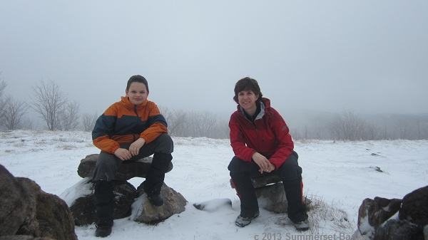 On the summit of Whiteface.  Cameron figured out the timer on the camera, so we can both be in pictures now!