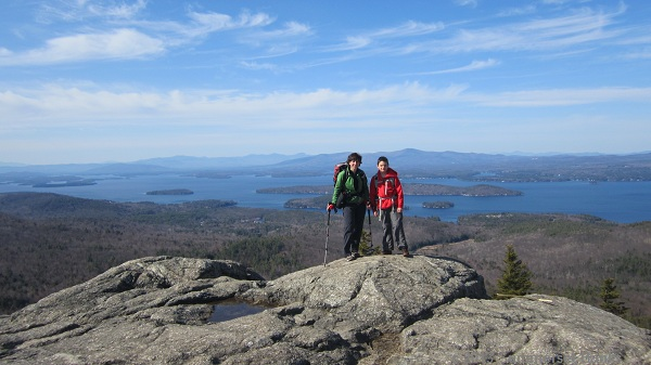 On the summit of Mt. Major.