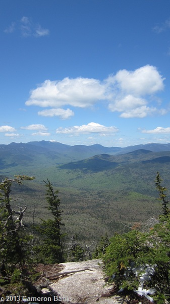 View over to the Franconia Ridge and Pemigewasset Wilderness.