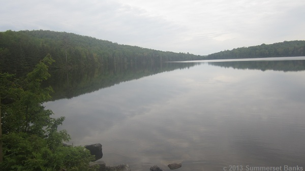 Stratton Pond, early in the morning.