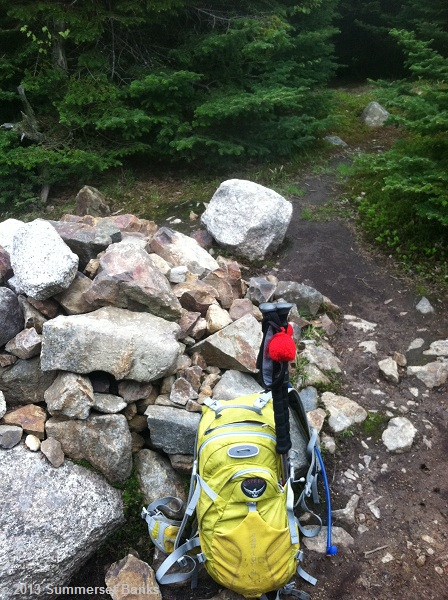 Mt. Tom summit cairn.