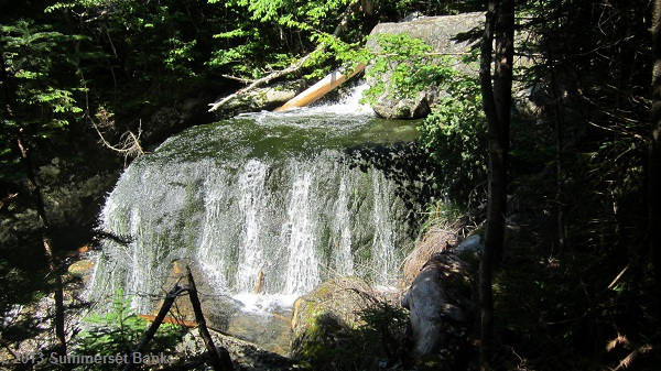 Another cascade further up the Huntington Ravine trail; this one was unusual because the water cascaded down both side of the rock like this.