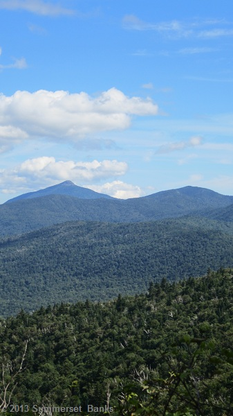 Camel's Hump in the distance, we'd be there the next day.