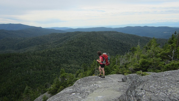 On Burnt Rock Mt., looking back to the ridges we'd already hiked over.