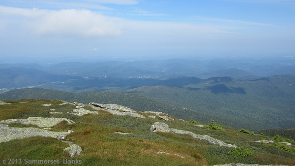 A look out from Camel's Hump to the scenery beyond.