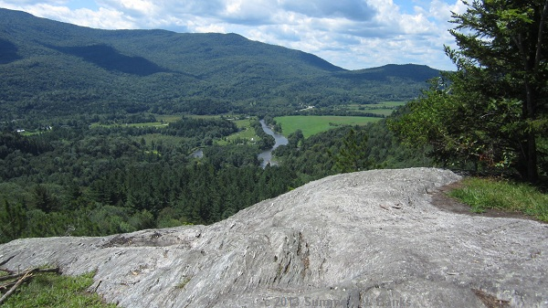 View of the Lamoille River floodplain from Prospect Rock.