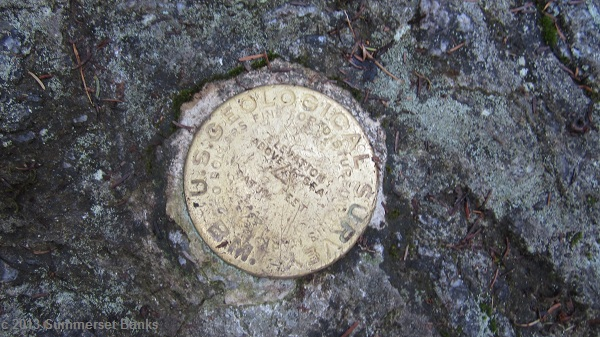 On of three markers on Laraway Mt., there was this marker, plus two reference markers.