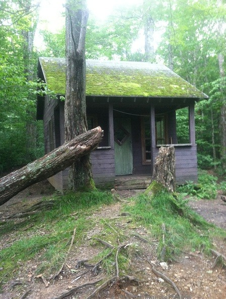 Corliss Camp, deluxe trail accommodations with four walls, windows and a door!
