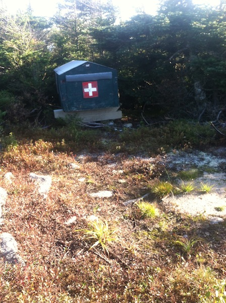 First aid cache on Mittersill Peak.