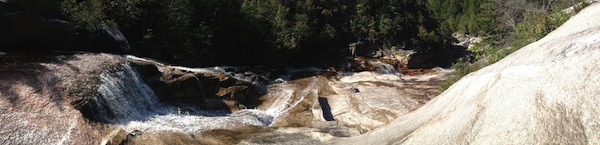 Panoramic view of Thoreau Falls.