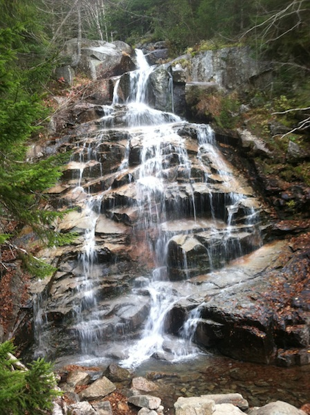 Cloudland Falls looking pretty good this morning!