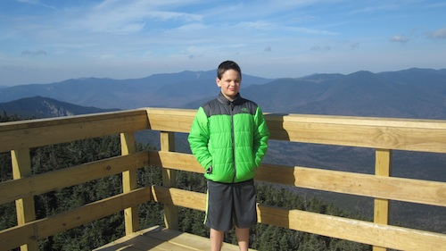 Cameron with the Franconias in the background.