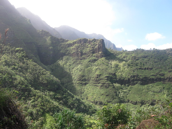 First peek into an interior valley.  If you think this looks sort of like Jurassic Park, you're right.  Part of the movie was filmed on this island.