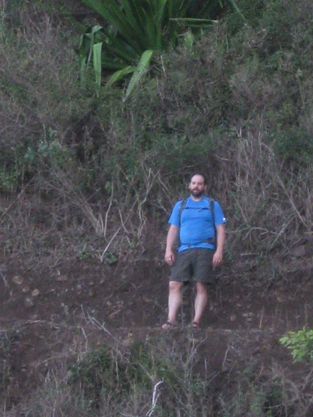 A zoomed image of Ethan on the trail.  Where is he?  Check the photo and find out.
