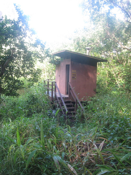 Privy at Hanakoa Valley.  Looks like just about every other privy and even has the Clivus brand composting toliet.