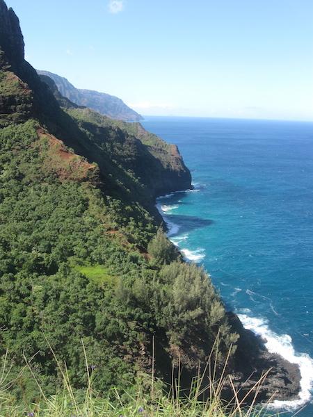 View to the terrain ahead from near Hanakapiai.