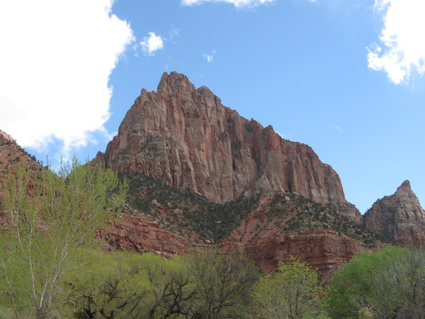 View of The Watchman right from my tent site.