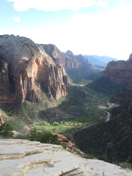View looking south from Angel's Landing.