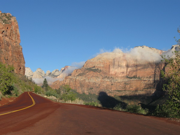 Another photo taken right from a roadside pullout along the switchbacks before the Zion-Mt. Carmel Tunnel.