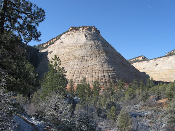 Checkerboard Mesa, in the eastern part of Zion National Park.