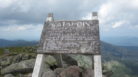 The sign on Baxter, the northern terminus of the Appalachian Trail.