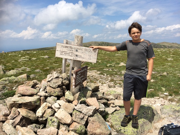 At Hamlin Peak!  This peaks finishes the three peaks we needed to bag in Baxter State Park for the NE67.