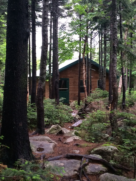 The bunkhouse at Chimney Pond, our basecamp for the next few days.