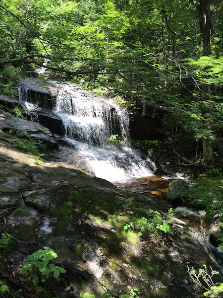 Beautiful waterfalls by the Old Speck Trail heading down to Grafton Notch.  With the previous day's rain, they were flowing pretty well.