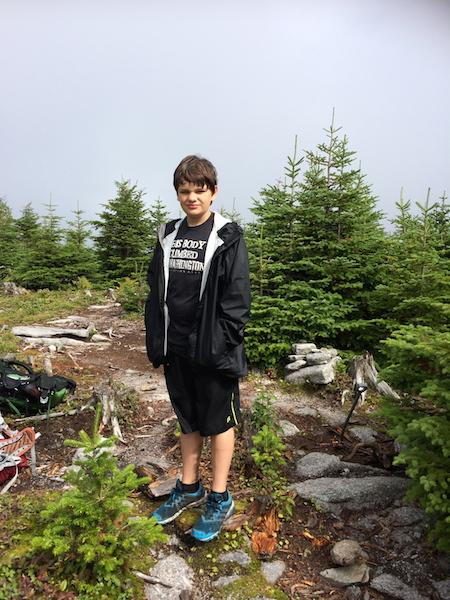 On the summit area of Redington.