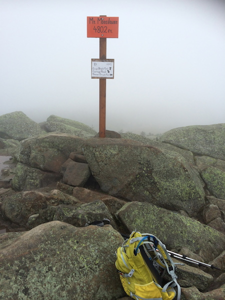 No views today from the summit of Moosilauke.