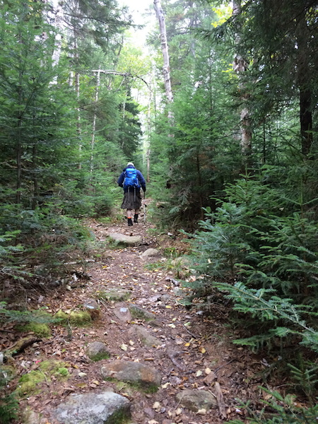 Nice straight section of the Desolation Trail.  The grade was moderate and the footing was nice.