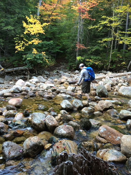 Ethan crossing Downes Brook for the 5th or 6th or 7th time.  We lost count after a while!