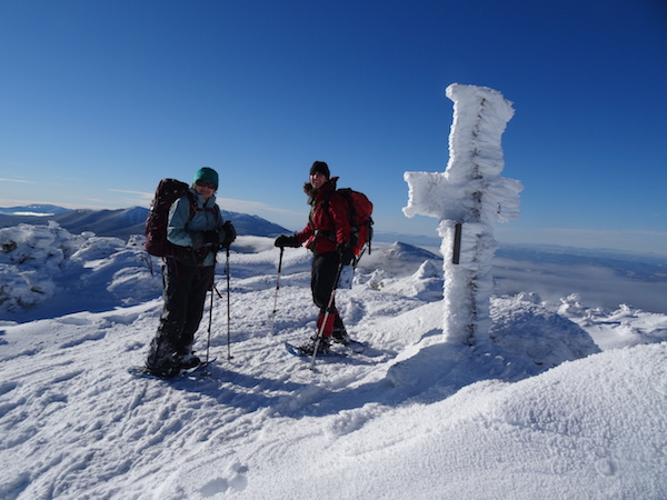 Lady Di and me on South Twin, ready to descend to Galehead Hut.