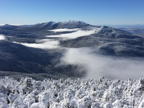View of the Franconias and Garfield from the North Twin outlook.