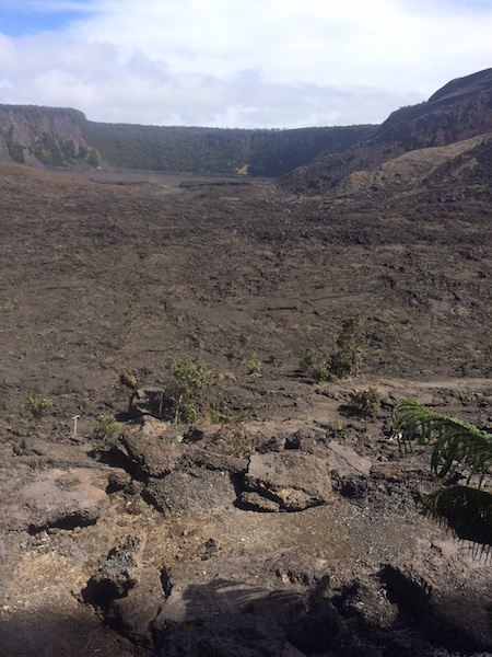 View across the floor of the Kilauea Iki Crater.
