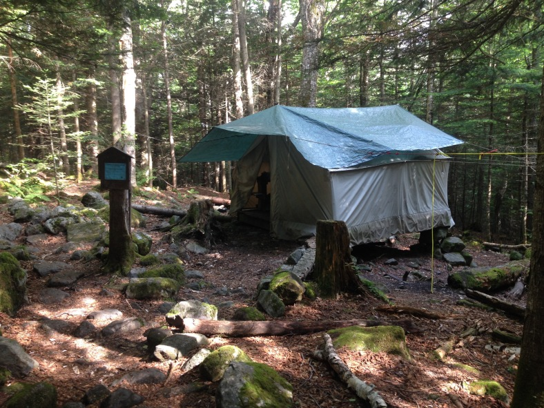 13 Falls Tentsite caretaker's tent. Her name was Catherine. She was lovely and personable -- a pleasure to meet.