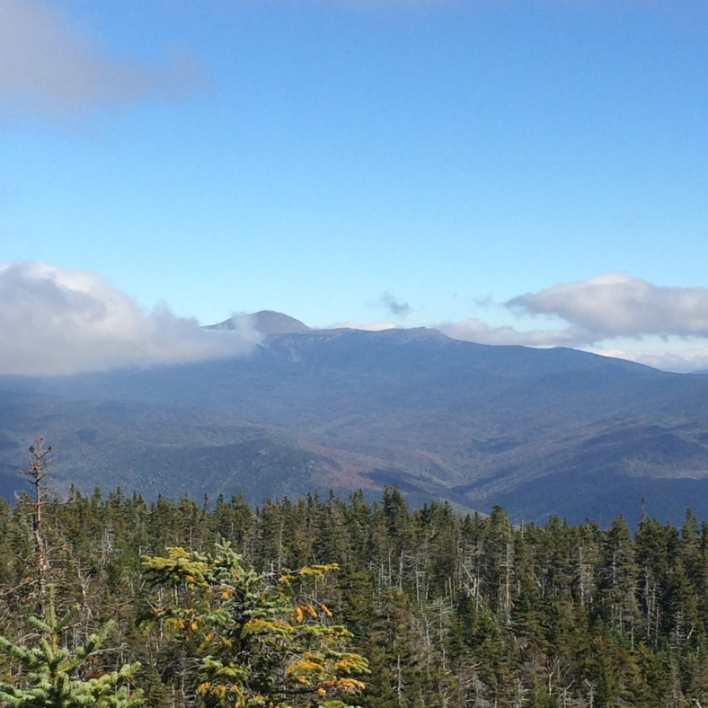 View out to Mt. Washington, just out of the clouds.