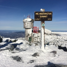The summit of Mt. Washington on a fine January day.