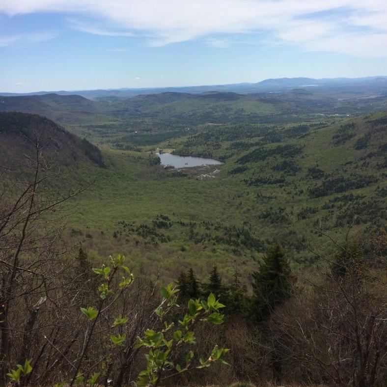 Lunch views, eastward toward Maine.