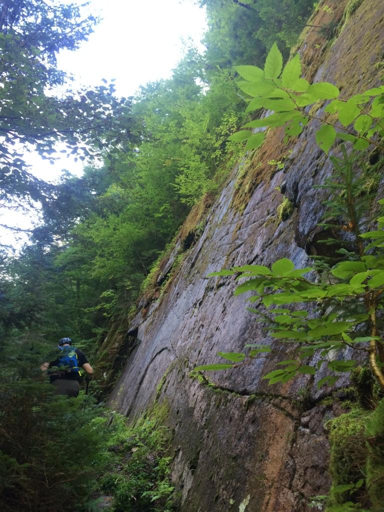 Huge slab of rock along the Devil's Hopyard Trail